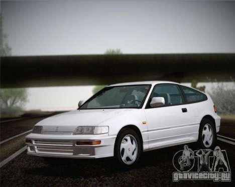 Honda CR-X 1991 для GTA San Andreas вид сзади слева
