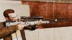 Снайперская винтовка AW L115A1 с глушителем v6