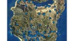 GTA V: The Manual: интерактивная карта местности
