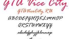 Официальный шрифт GTA Vice City