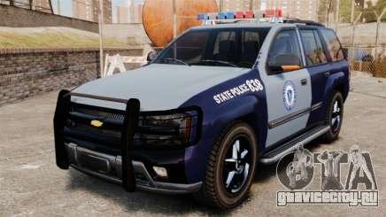 Chevrolet Trailblazer 2002 Massachusetts Police для GTA 4