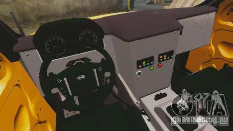 Land Rover Bowler Pick UP для GTA 4 вид изнутри
