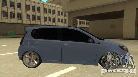Chevrolet Aveo LT для GTA San Andreas вид сзади слева