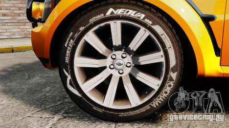 Land Rover Bowler Pick UP для GTA 4 вид сзади