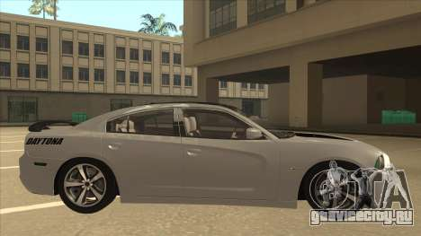 Dodge Charger RT Daytona 2011 V1.0 для GTA San Andreas вид сзади слева