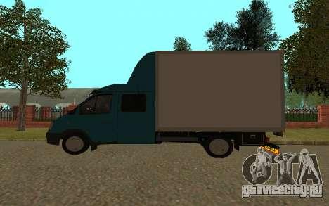 ГАЗель 33023 для GTA San Andreas вид сзади слева
