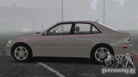 Lexus IS300 для GTA 4 вид слева