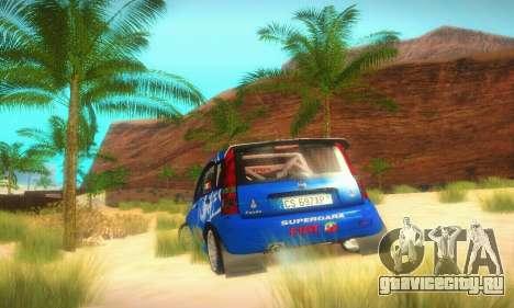 Fiat Panda Rally для GTA San Andreas вид сзади
