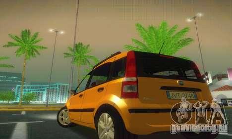 Fiat Panda Taxi для GTA San Andreas вид сзади слева