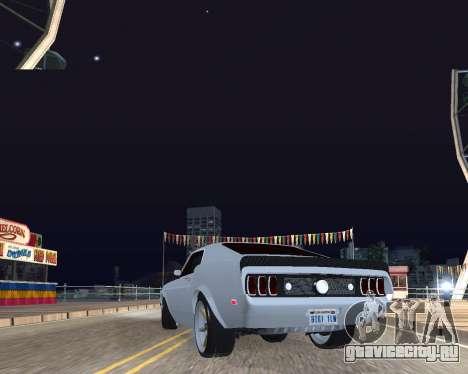 Ford Mustang Anvil для GTA San Andreas вид сзади слева