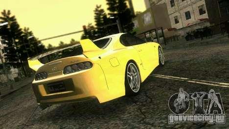 Toyota Supra TRD для GTA Vice City вид слева