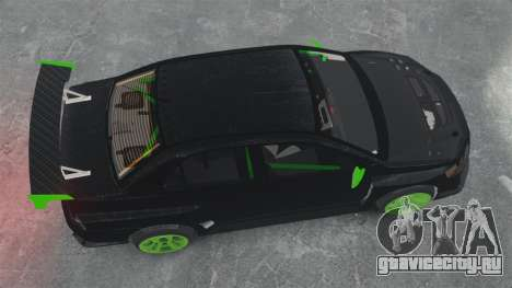 Mitsubishi Lancer Evolution VII Freestyle для GTA 4 вид справа
