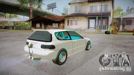 Honda Civic (EG6) Drag Style для GTA San Andreas вид справа