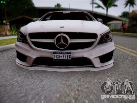 Mercedes-Benz CLA 250 для GTA San Andreas вид сверху