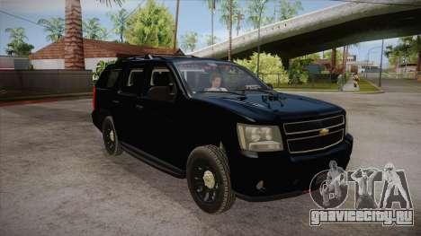Chevrolet Tahoe LTZ 2013 Unmarked Police для GTA San Andreas вид сзади