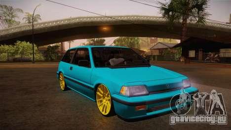 Honda Civic SI Hellaflush для GTA San Andreas вид сзади