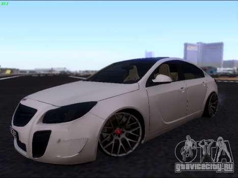 Opel Insignia для GTA San Andreas вид изнутри
