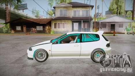 Honda Civic (EG6) Drag Style для GTA San Andreas вид слева