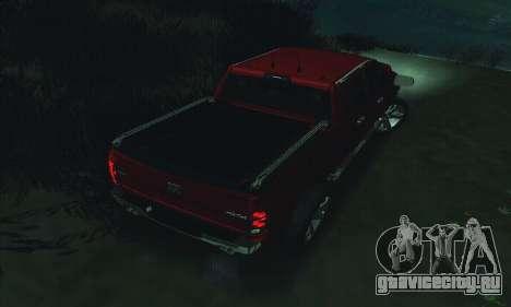 Dodge Ram 2500 HD для GTA San Andreas вид снизу