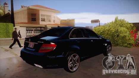 Mercedes-Benz C 63 AMG для GTA San Andreas вид сзади