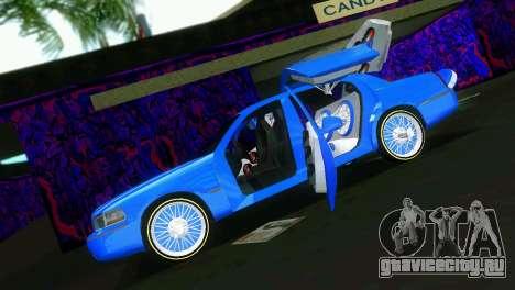 Lincoln Town Car Tuning для GTA Vice City вид сзади