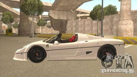 Ferrari F50 GT TT Black Revel для GTA San Andreas вид изнутри