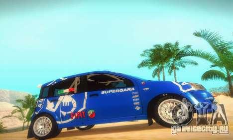 Fiat Panda Rally для GTA San Andreas вид сзади слева