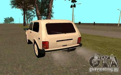 ВАЗ Нива 21213 для GTA San Andreas вид сзади слева
