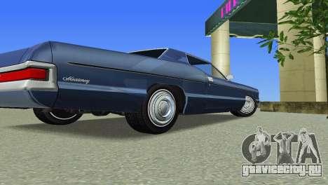 Mercury Monterey 1972 для GTA Vice City вид сзади