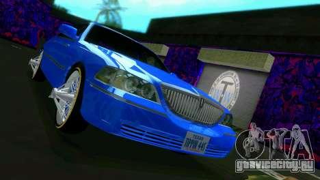 Lincoln Town Car Tuning для GTA Vice City вид сзади слева