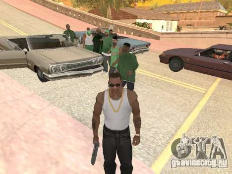 Ещё три парня в банду Groove street для GTA San Andreas третий скриншот