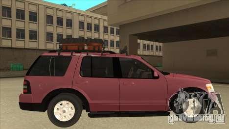 Ford Explorer 2011 для GTA San Andreas вид сзади слева