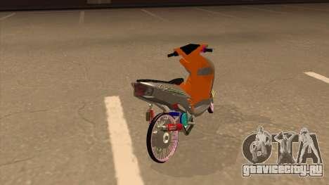 Yamaha Mio Soul 2 для GTA San Andreas вид сзади слева
