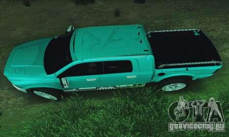 Dodge Ram 2500 HD для GTA San Andreas вид слева