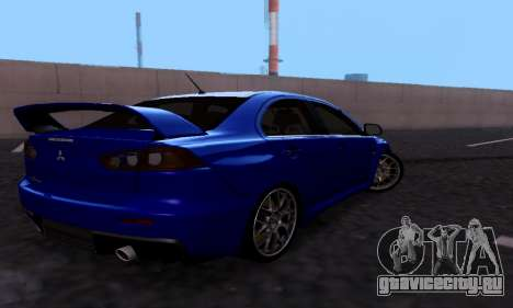 Mitsubishi Lancer Evo Drift Edition для GTA San Andreas вид справа