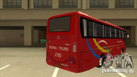 KINGLONG XMQ6126Y - Rural Tours 2780 для GTA San Andreas вид справа