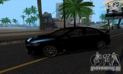 Mitsubishi Lancer Evo Drift Edition для GTA San Andreas вид сзади слева