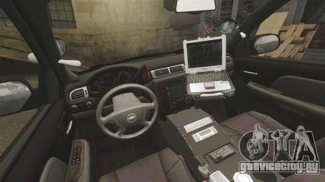 Chevrolet Tahoe 2010 PPV SFPD v1.4 [ELS] для GTA 4 вид сзади