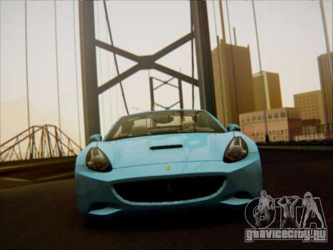 Ferrari California 2009 для GTA San Andreas вид изнутри