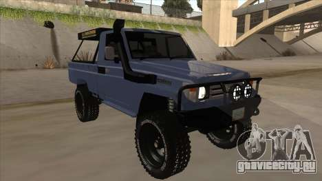 Toyota Machito Pick Up 2009 для GTA San Andreas вид слева