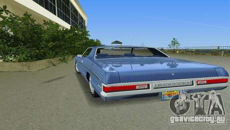 Mercury Monterey 1972 для GTA Vice City вид изнутри