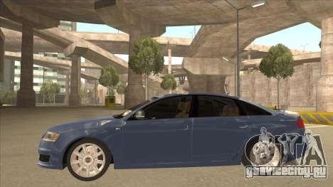 2010 Audi A6 4.2 Quattro для GTA San Andreas вид сзади слева