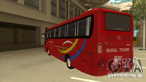 KINGLONG XMQ6126Y - Rural Tours 2780 для GTA San Andreas вид сзади