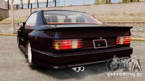 Mercedes-Benz C126 500SEC для GTA 4 вид сзади слева