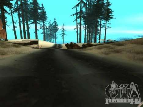Зима v1 для GTA San Andreas
