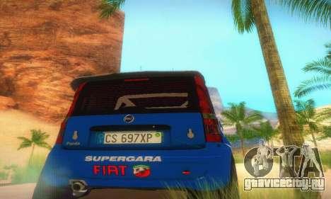 Fiat Panda Rally для GTA San Andreas вид изнутри