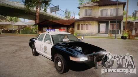 Vapid GTA V Police Car для GTA San Andreas вид сзади