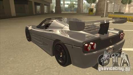 Ferrari F50 GT TT Black Revel для GTA San Andreas вид сзади