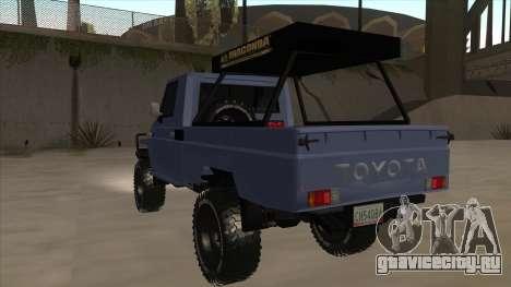 Toyota Machito Pick Up 2009 для GTA San Andreas вид сзади
