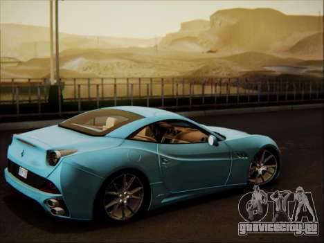 Ferrari California 2009 для GTA San Andreas вид сбоку